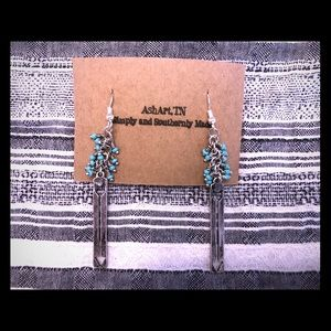 Turquoise arrow earrings